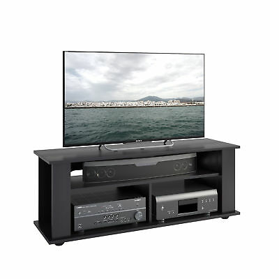 size 40 869d1 dbb44 BLACK TV STAND for TVs up to 55 inch Entertainment Center Media Storage  Shelf