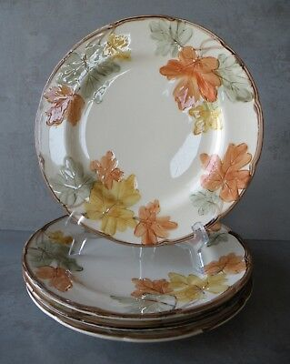 "Vintage OCTOBER by FRANCISCAN Group of Four 10.5"" Dinner Plates"
