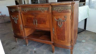 Gorgeous  Antique Art Deco Buffet Server W/Marble Top and  Mirror