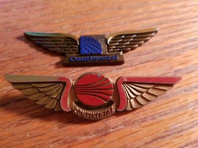 Continental Airlines Flight Attendant Wings LOT of 2
