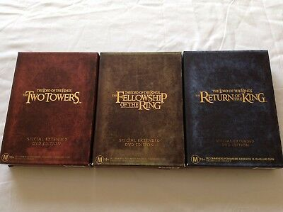 THE LORD OF THE RINGS TRILOGY - SPECIAL EXTENDED DVD EDITIONS Bulk Lot!