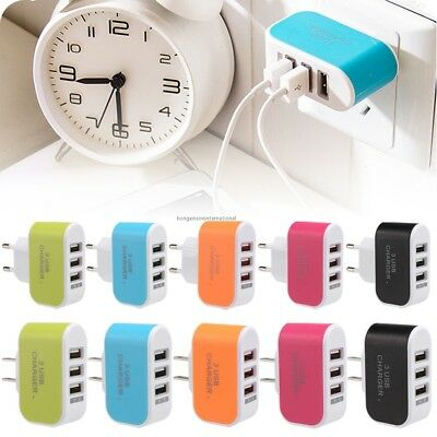 Universal Travel 5V 3.1A Port USB AC Wall Home Charger Power Adapter EU/US Hot