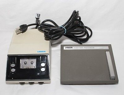 LANIER MODEL MCT MIcro Cassette Dictation Transcriber with pedal