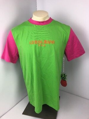Guess Jeans x Sean Wotherspoon Farmers Market Neon Colorblock M Green Pink  NWT 9f3886a5643e6