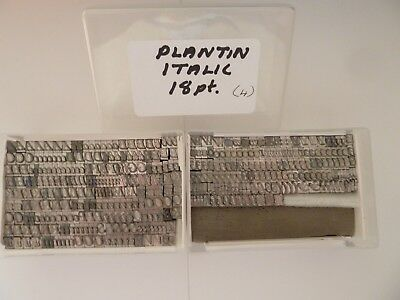Letterpress Printing Type for use on Adana etc. 18pt Plantin Italic