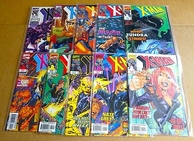 "LOT OF 10 x  ""MARVEL X-MAN"" COMICS  #36 to #45 NEW/UNREAD HIGH GRADE NM 1998"