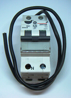 RCBO  32A  30mA GE SP+N DPT100    609679