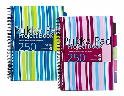 Pukka Pad A4 Project Book: Wirebound : Pink or Blue : WH2 : NEW