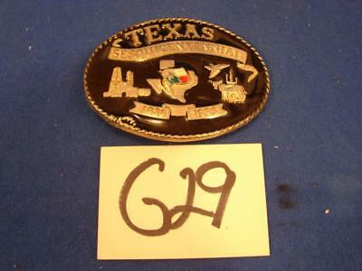 G29 Vintage Metal Texas Sesquicentennial 1836-1986 Belt Buckle Made In Usa