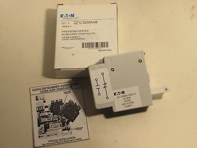 Cutler Hammer C320Ka6 For Size 6 Series C1 Freedom Series Auxiliary Contact New