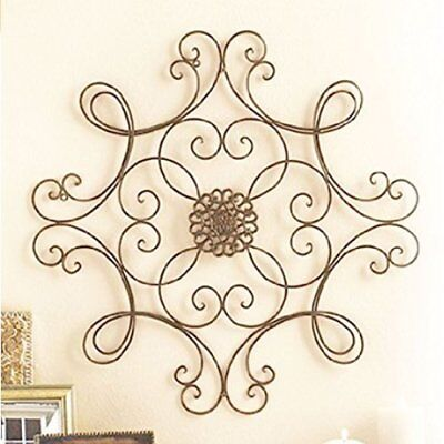 Scroll Medallion Wall Decor Metal Art Sculpture In Out Door Accent Patio  Home