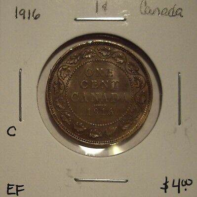 C Canada George V 1916 Large Cent - EF