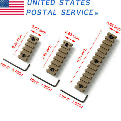 3PCS Set Tactical Keymod Picatinny Weaver Rail Handguard ABS 5 7 13 Slot TAN US