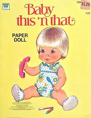 Baby This 'n that Papier Puppe Buch, Uncut 1979, Vintage