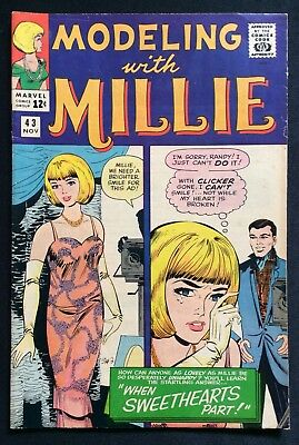1965 Modeling with Millie Comicbuch mit / 3 Papier Puppen, #43
