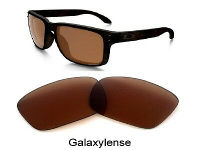 a4bed58340 Galaxy Replacement Lenses For Oakley Holbrook Sunglasses Brown Color 100%  UVAB