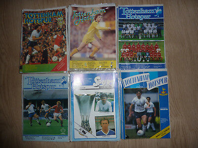 Tottenham ( Spurs  Home Programmes 1980/81 to 1984/85 - Select Yours
