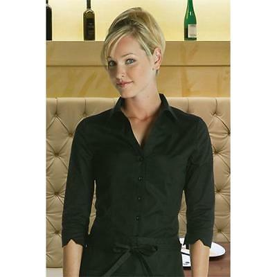 Chef Works - WA34-BLK-L - Women's Finesse Fitted Shirt (L)