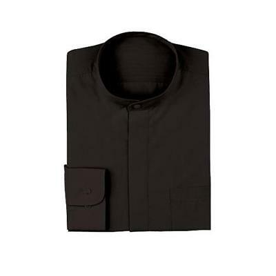 Chef Works - W200-BLK-S - Women's Black Banded-Collar Dress Shirt (S)