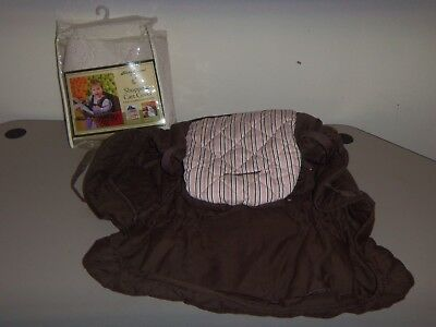 Eddie Bauer Shopping Cart Cover Pink Stripes And Brown