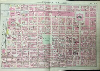 1895 Philadelphia Pa Broad Street Station Rittenhouse Square Copy Atlas Map
