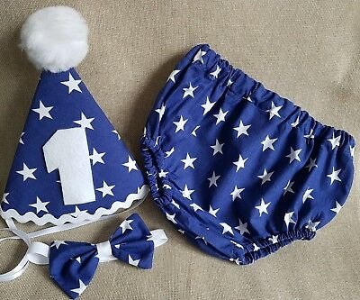 *** Baby Photo Prop Navy Star Outfit - 1st Birthday/Cake Smash ***