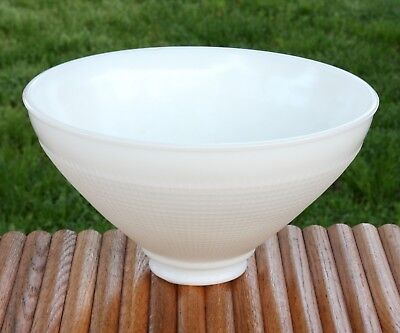"Vintage Waffle Milk Glass Lamp Shade 10"" Diameter Diffuser Torchiere Replacement"