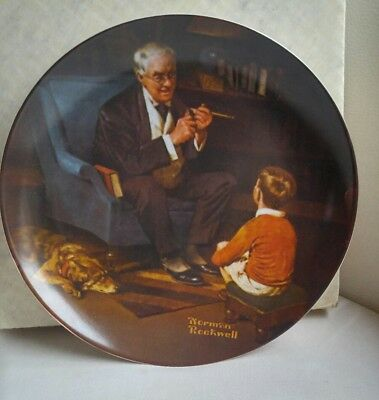 "Norman Rockwell Plate ""The Tyeoon"" Bradford Exchange Knowles"