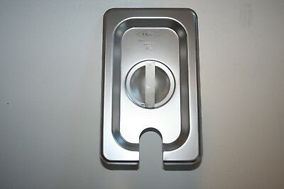 New Case of 4  1/9 Size Slotted Stainless Steel Steam Table  Hotel Pan Lid Cover