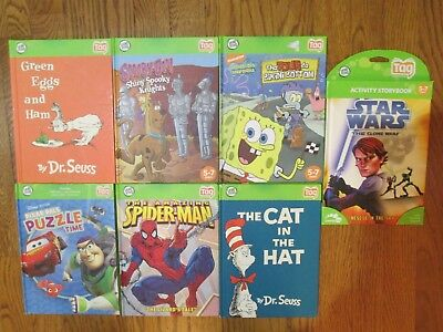 Great Lot Of 7 Leapfrog Leap Frog Tag  Reader Cars - Star Wars - Up  Boys