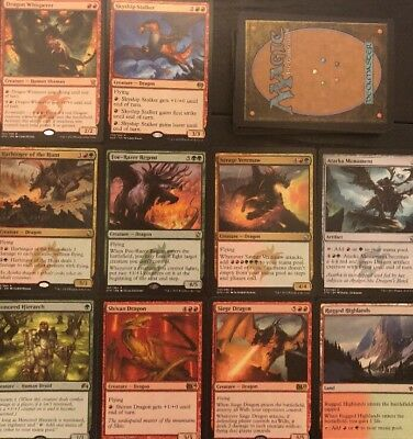 MULTICOLOUR DRAGON DECK! Ready To Play 60 Cards Mtg Red Green