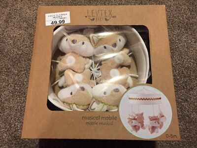 Levtex Baby Little Feather Musical Mobile - New