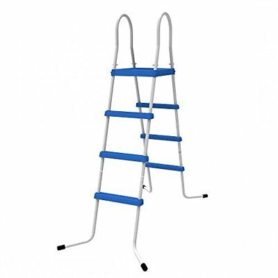 Jilong 4 niveles Pool Escalera para piscina pared alturas hasta 122 cm, azul,