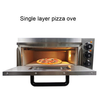 2200W Pizza Oven Single Deck Commercial Electric Kitchen Fire Stone Catering