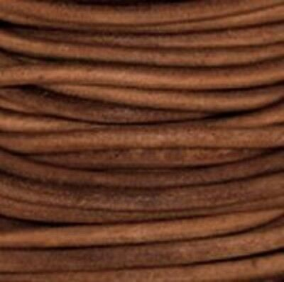 Light Brown - Premium Natural Dye Round Leather Cord  *