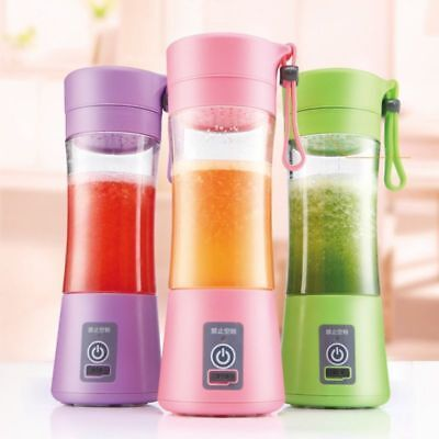 1x Portable USB Electric Fruit Juicer Maker Blender Bottle Juice Shaker VIC AU
