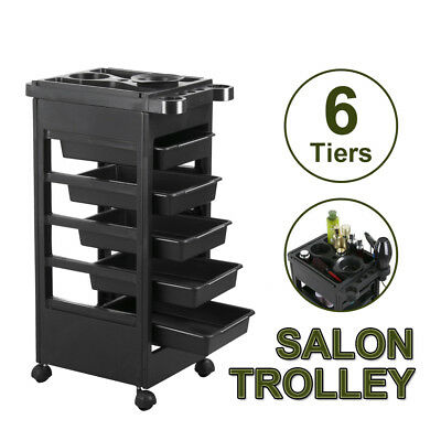 Hairdresser Salon Spa Trolley 6 Tiers Hair Rolling Storage Cart Multifunction AU