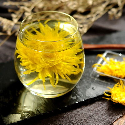 Organic Large Golden Chrysanthemum Flower Blossom Cooling Healing Floral Tea