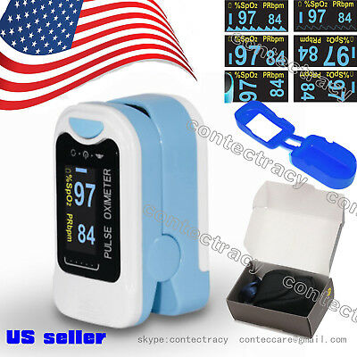 US Finger Fingertip Blood Oxygen Meter SPO2 OLED Pulse Heart Rate Monitor,rubber