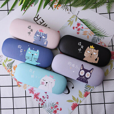Glasses Box Cute Cat Case Cartoon Hard Protector For Eyeglasses Storage Portable