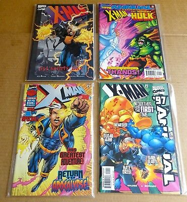 "4 x ""MARVEL X-MAN"" COMICS/GRAPHIC NOVELS/ANNUALS  NEW/UNREAD HIGH GRADE NM"