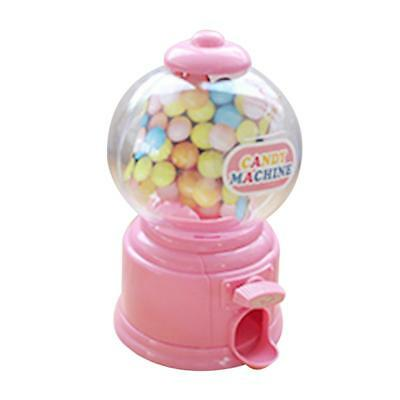 mini candy bubble dispenser machine coin bank for Kids birthday gift Pink