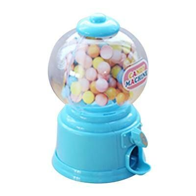 mini candy bubble dispenser machine coin bank for Kids birthday gift Blue