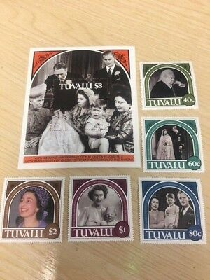 COLLECTION OF STAMPS issued in TUVALI 40th Wedding Anniversay of QE II