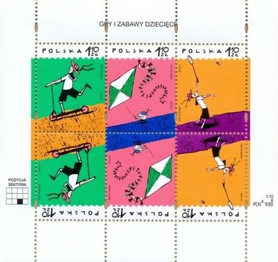 Poland Polen Polska 2002 sheet Child games and amusments