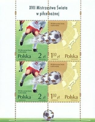Poland Polen Polska 2002 sheet XVIIth World Football Championship