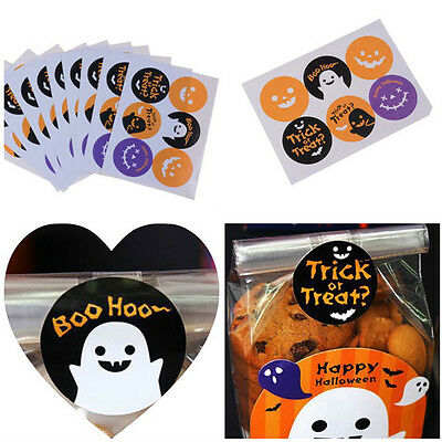 60pcs Halloween Stickers Decorative Baking Packing Seal Affixed Stickers BottleH