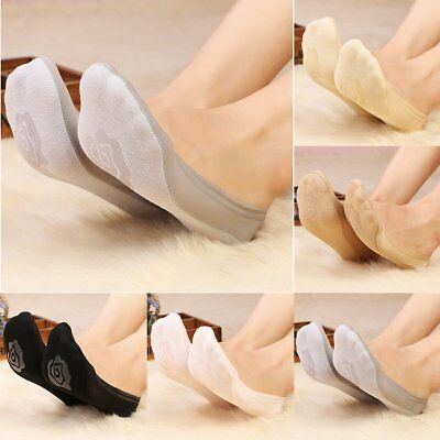 Fashion Women Invisible No Show Nonslip Loafer Boat Liner Low Cut Cotton Socks