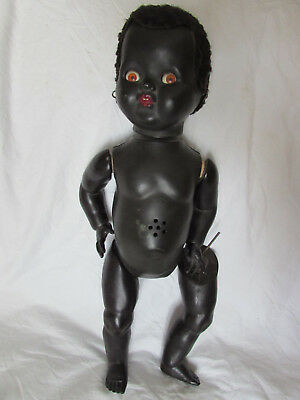 Palitoy Black America African Doll made in England 19 inch Shifting Eye Legs Arm
