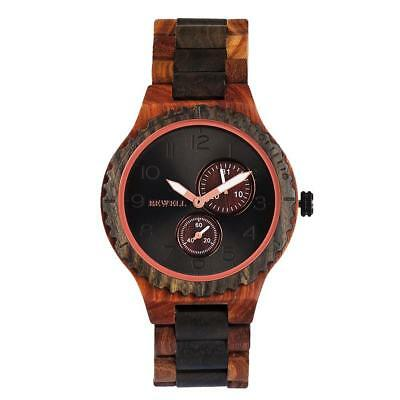 Men Women Wooden Quartz Watches Analog Lightweight Handmade Wrist Watches E
